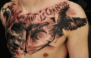 7the-only-constant-is-change-crow-tattoo-on-chest
